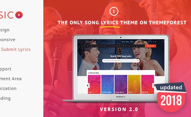 SONIK: Professional One Page Music / DJ / Producer Responsive HTML Template