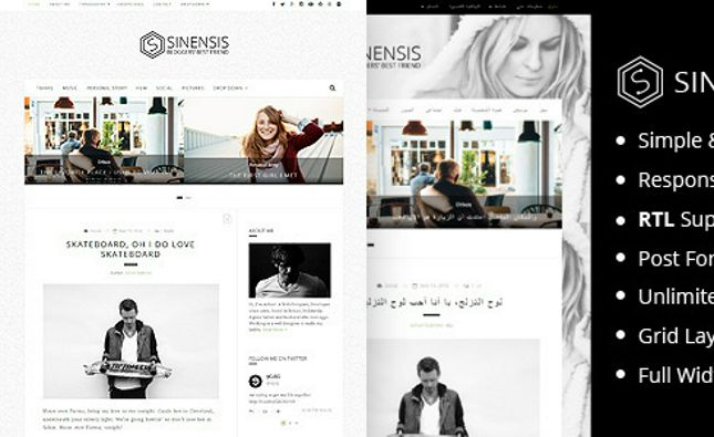 Icarus - Personal Blog WordPress Theme