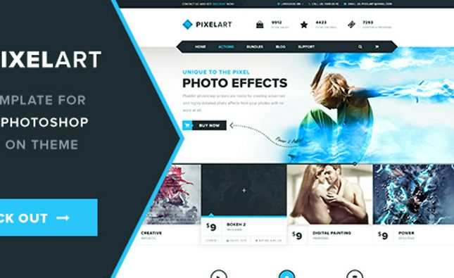 Discover Media - Creative One Page PSD Template