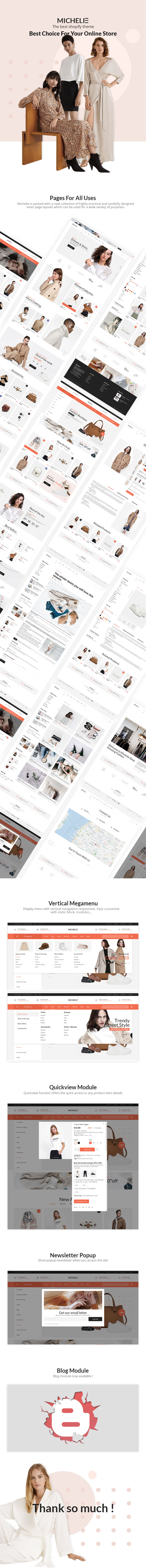 MICHELIE – Minimal & Clean Fashion Shopify Theme