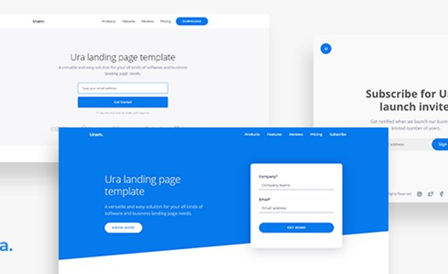 Sware - SaaS & Software Landing PSD Template
