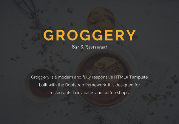 Groggery - Responsive Bar Restaurant & Cafe Template
